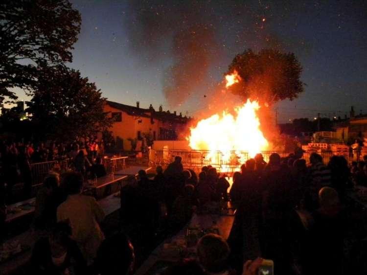 Tradition respectée aux Forges avec le feu de la Saint-Jean